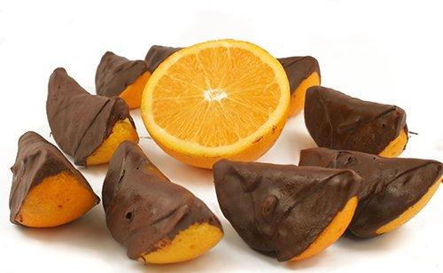 Naranjas Bañadas en Chocolate Negro