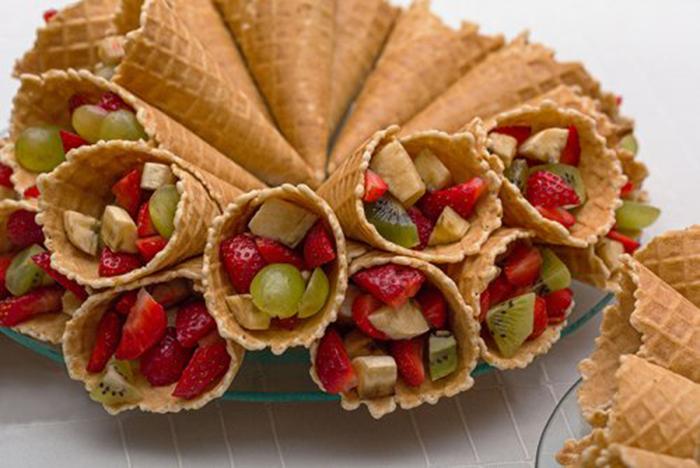 Obleas Caseras con Fruta