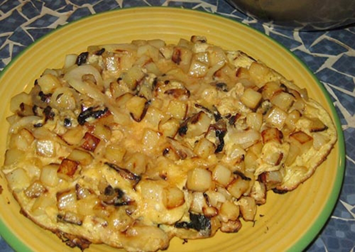 Omelette de Cebolla y Patatas