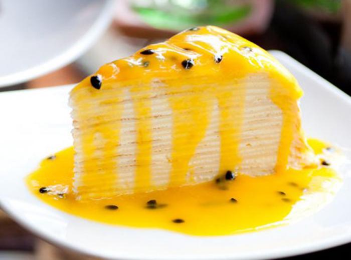 Pastel de Crepes y Maracuyá
