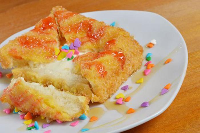 Pastel de Helado Frito