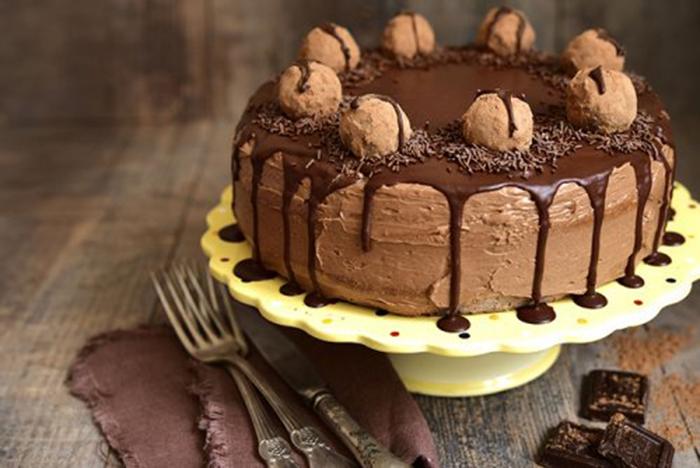 Pastel de Mousse de Chocolate con Trufas
