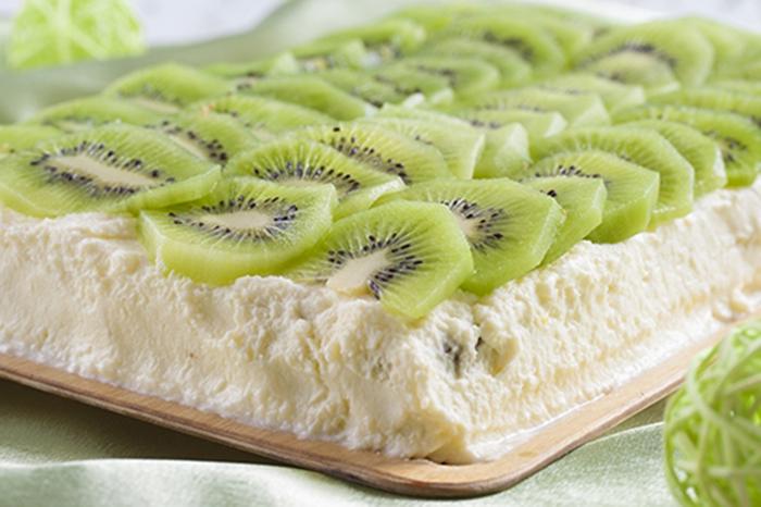 Pastel de Queso con Kiwi