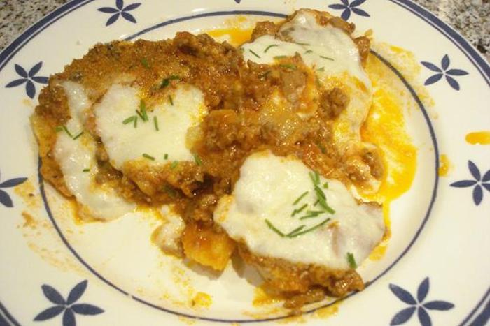 Patatas rellenas con mozzarella