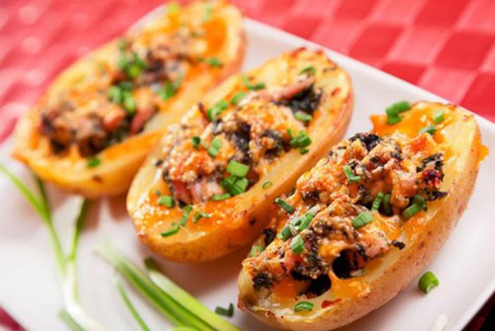 Patatas Rellenas de Pollo Gratinadas
