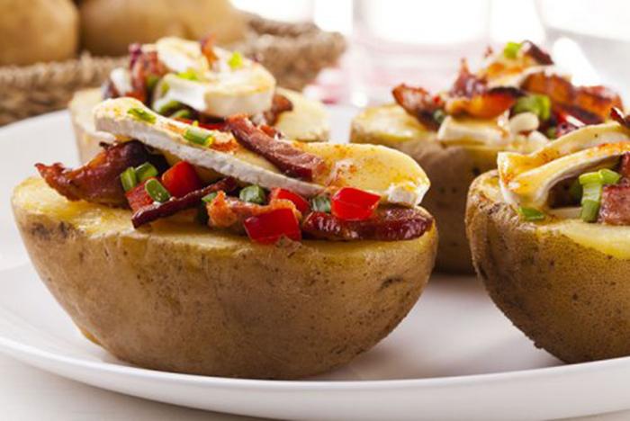 Patatas Rellenas de Verduras, Bacon y Queso