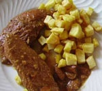 Pechuga de Pavo con Salsa de Almendras.