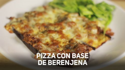 Pizza con Base de Berenjena