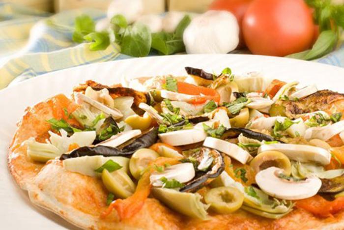 Pizza de Alcachofas, Champiñones y Aceitunas
