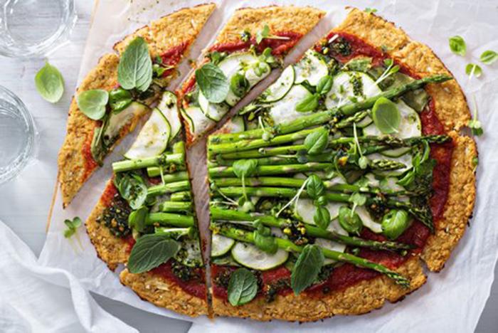Pizza de Coliflor con Vegetales