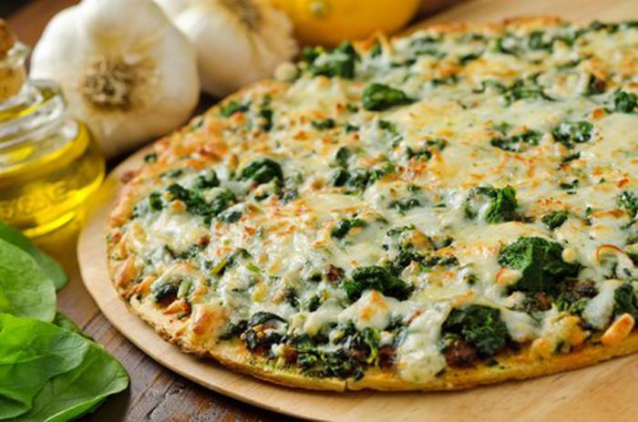 Pizza de Espinacas