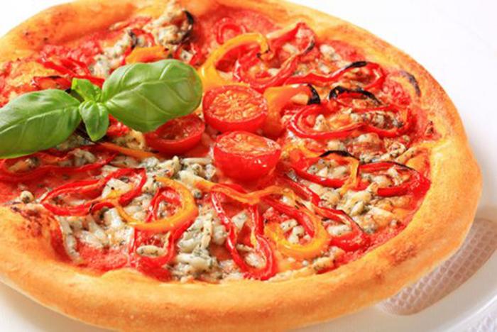 Pizza de Pimientos y Tomates Cherry