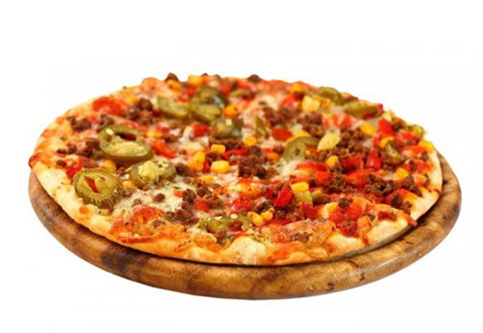 Pizza Mexicana con Carne, Chile y Cebolla