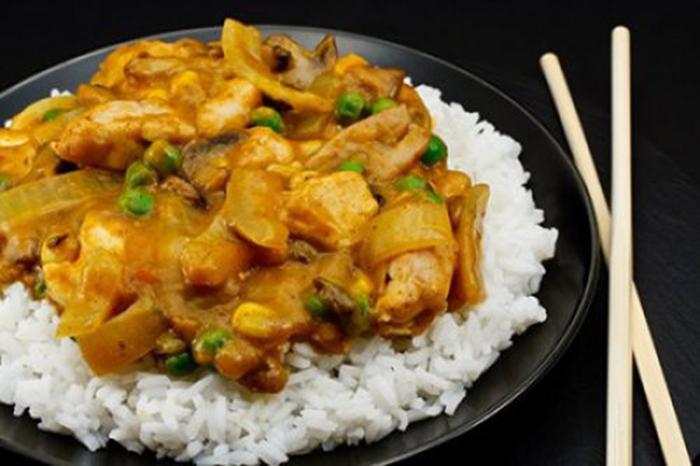 Pollo al Curry Chino