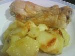 Pollo al Horno con Patatas y Especias.