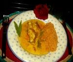 Pollo con Arroz Rojo.