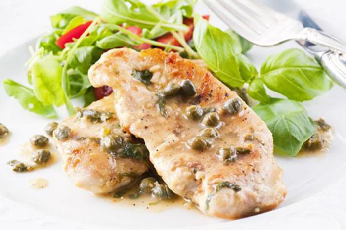 Pollo con Salsa de Piccata