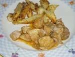Pollo en Salsa con Cebollita Confitadas (Olla Rapida).