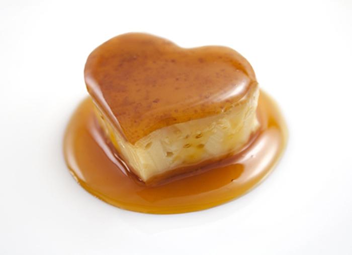 Pudin de Caramelo con Forma de Corazón