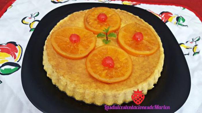 Pudin de Naranja Casero