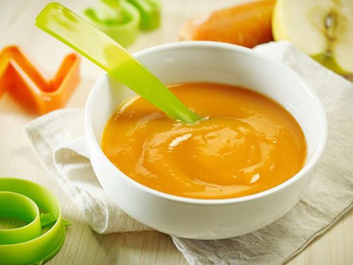 Puré de Manzana y Zanahoria para Niños