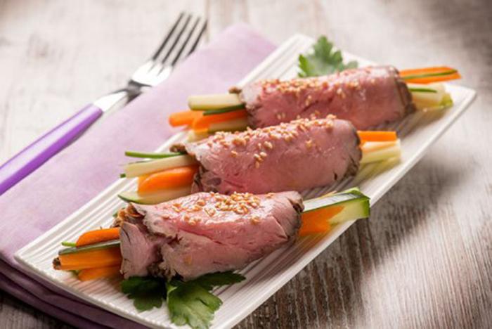 Roast Beef con Verduritas