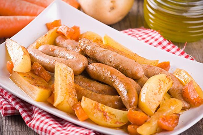 Salchichas con Patatas