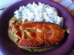 Salmon en Leche de Coco.
