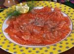 Salmon Marinado al Eneldo.