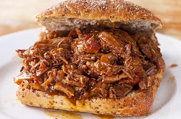 Sándwich de Cerdo Asado