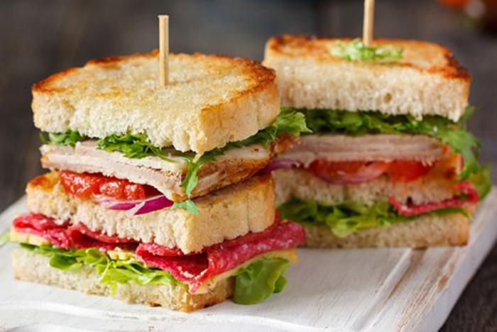Sándwich de Pavo y Vegetal