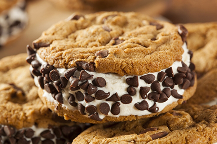 Sándwich Helado de Cookies con Chips de Chocolate