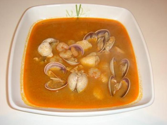 Sopa de Marisco Rapida y Economica.