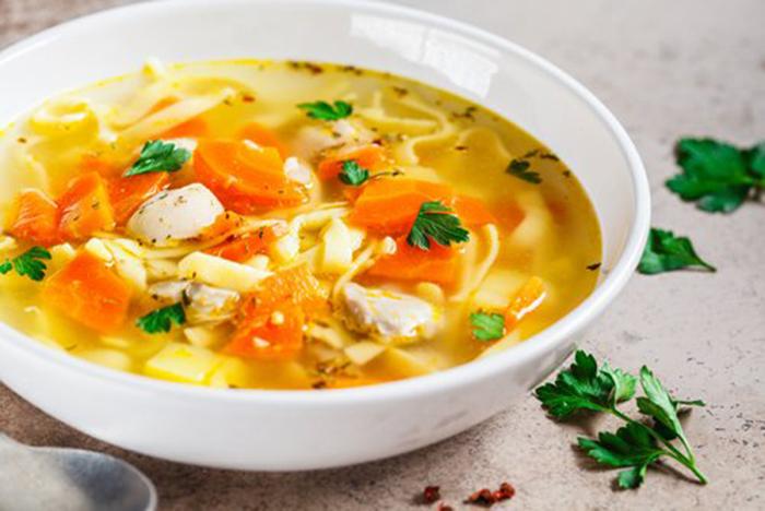 Sopa de Pollo y Verduras