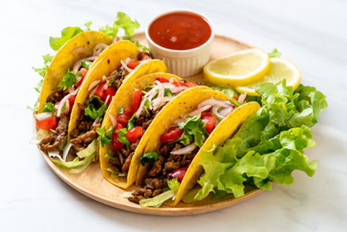 Tacos de Carne y Vegetales