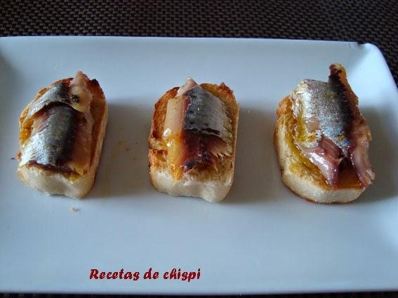 Tapa de sardina vieja de chispi