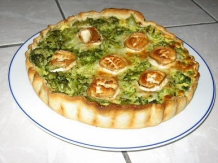 Tarta de Brocoli y Queso de Cabra.