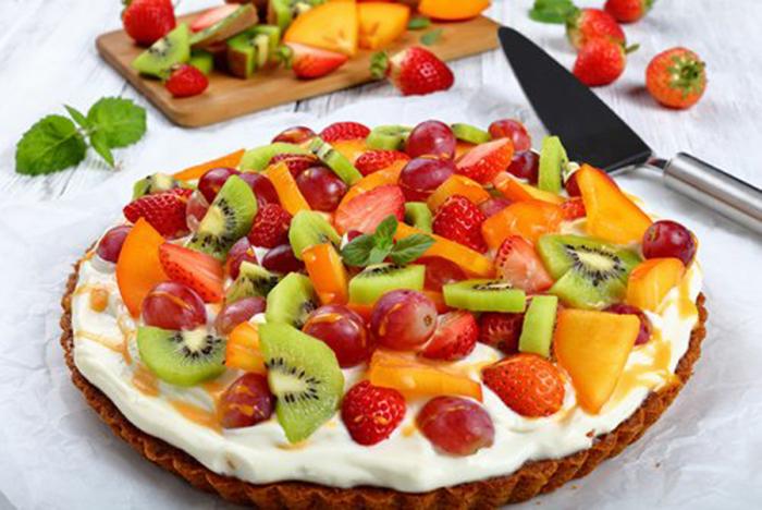 Tarta de Calabaza con Queso Crema y Frutas