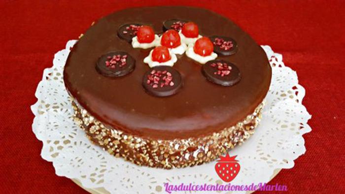 Tarta de Crema y Chocolate