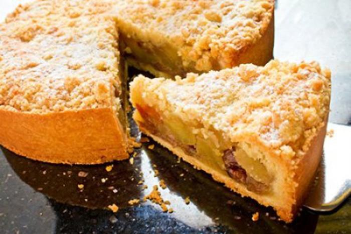 Tarta de Manzana con Crumble de Canela
