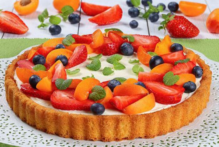 Tarta de Mascarpone y Frutas