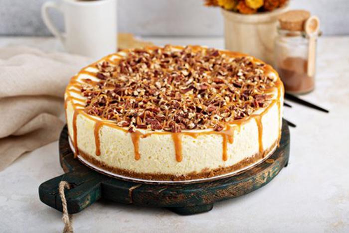 Tarta de Queso Caramelo y Nueces
