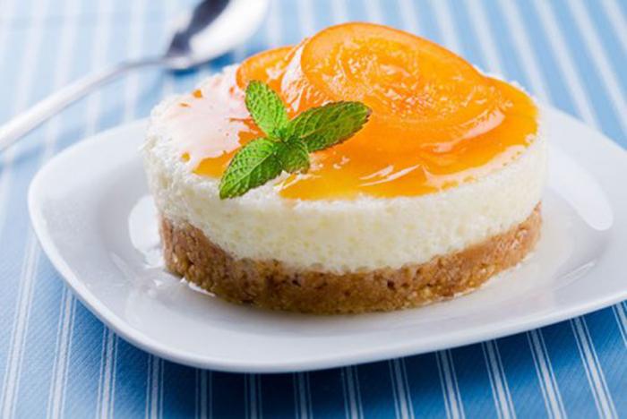 Tarta de Queso con Naranja