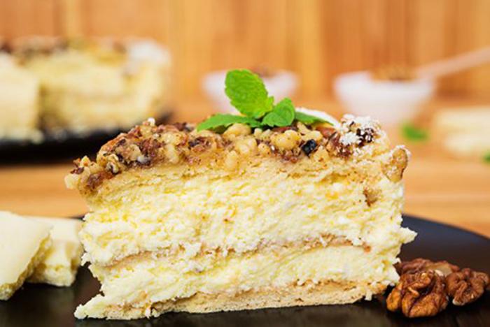 Tarta de Queso y Miel con Crumble de Nueces