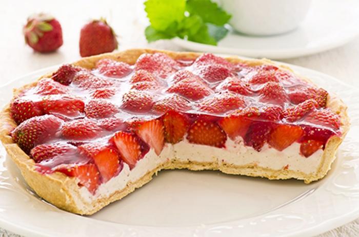 Tarta de Ricotta y Fresas