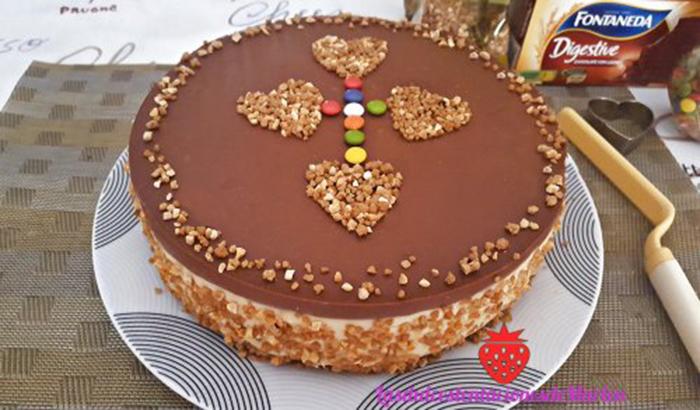 Tarta Mousse de Crema Pastelera y Almendras