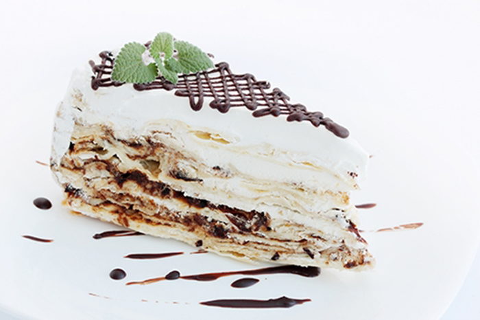 Tarta Napoleón con Chocolate