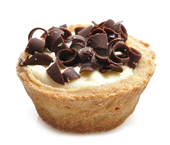 Tartaletas de Crema de Queso con Chocolate