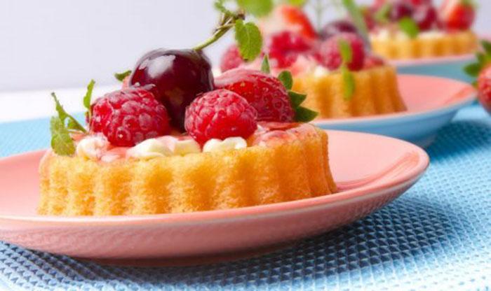Tartaletas de Queso y Frambuesas