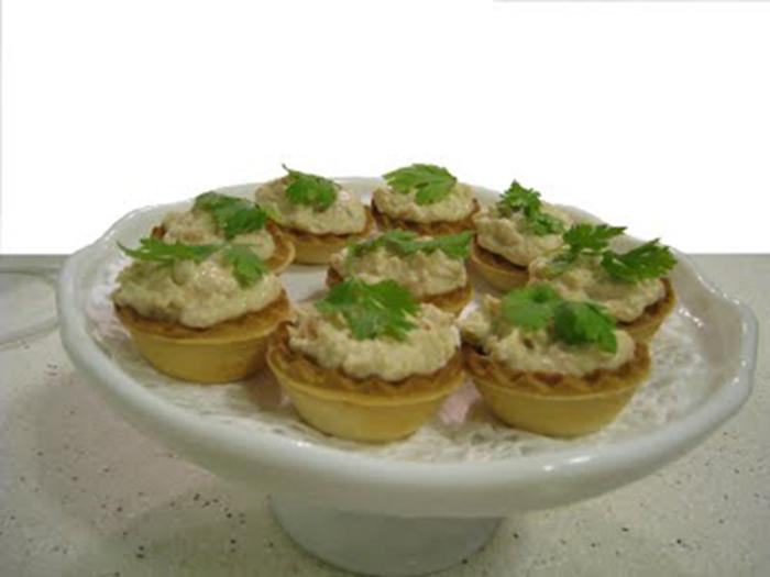 Tartaletas Saladas de Gambas, Atún o Jamón